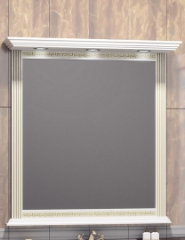 Зеркало Opadiris Корлеоне 100 белое/золотая патина
