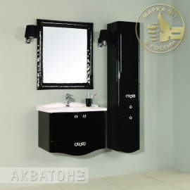 Мебель для ванной Акватон Венеция 75 черная