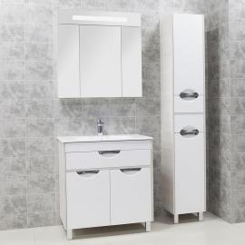 Мебель для ванной Акватон Юта 80 белый/ясень фабрик