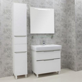 Мебель для ванной Акватон Дакота 80 белый/выбеленное дерево