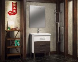 Мебель для ванной Smile Боско 70 белая/винтаж