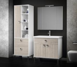 Мебель для ванной Smile Квинта 70 белый/орегано