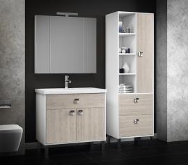 Мебель для ванной Smile Квинта 90 белый/орегано