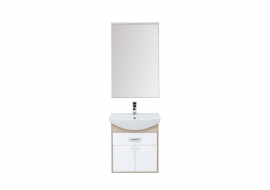 Мебель для ванной Aquanet Грейс 60 дуб сонома/белый (1 ящик, 2 дверцы)