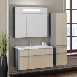 Мебель для ванной Smile Кристалл 90 титан/бежевая