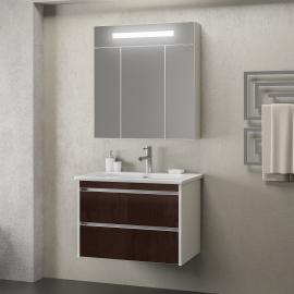 Мебель для ванной Smile Фреш 80 белая/коричневая