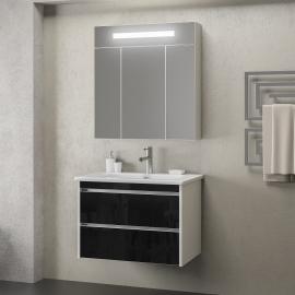 Мебель для ванной Smile Фреш 80 белая/черная