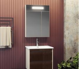 Мебель для ванной Smile Фреш 60 белая/коричневая