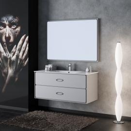 Мебель для ванной Smile Монтэ 90 светло-серая