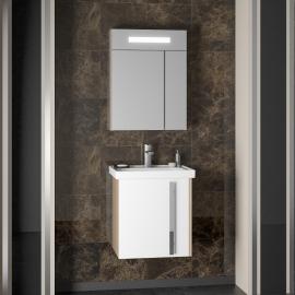 Мебель для ванной Smile Стайл 50 белая/дуб