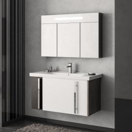 Мебель для ванной Smile Стайл 100 белая/венге