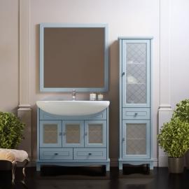 Мебель для ванной Opadiris Омега 90 голубая