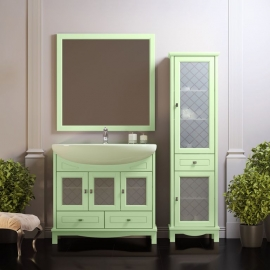 Мебель для ванной Opadiris Омега 90 фисташковая