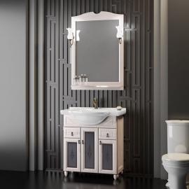 Мебель для ванной Opadiris Тибет 70 белая/стекло