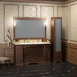 Мебель для ванной Opadiris Лучия 150 с двумя раковинами нагал
