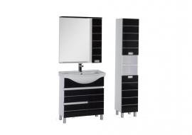 Мебель для ванной Aquanet Доминика 80 черная