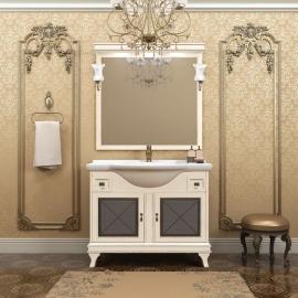 Мебель для ванной Opadiris Борджи 85 слоновая кость