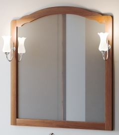 Зеркало Smile Империал 80 светлый орех