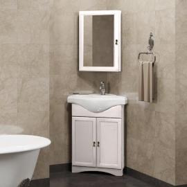 Мебель для ванной Opadiris Клио 45 угловая белая левая
