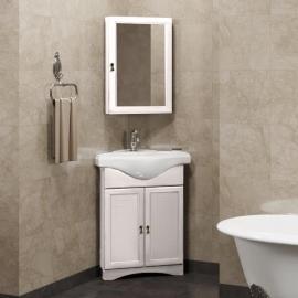 Мебель для ванной Opadiris Клио 45 угловая белая правая