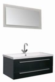 Мебель для ванной Aquanet Нота 100 Лайт черная